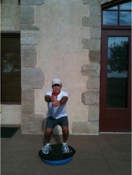 Golf Fitness Bosu Squat 1