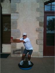 Golf Fitness Bosu Squat 3