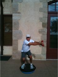 Golf Fitness Bosu Squat 5