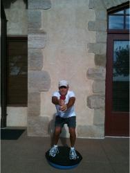 Golf Fitness Bosu Squat 6