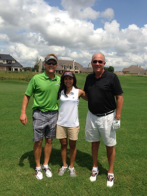 Gaillardia Golf Ha with Client